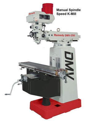 Remedy 3416S Manual Spindle Speed Knee Mill