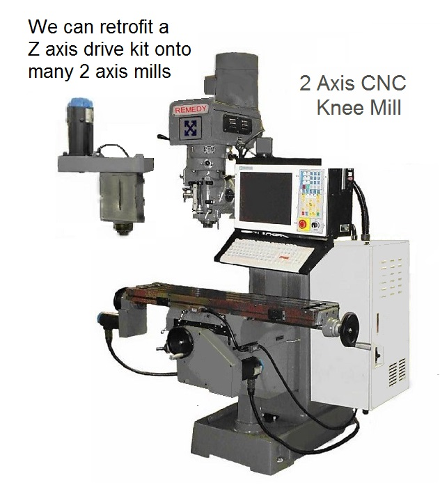 2 axis cnc knee mill